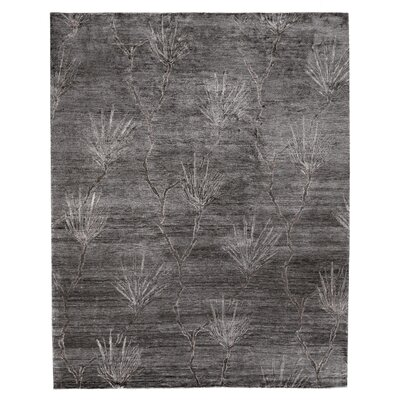 Antiqued Hand-Knotted Gray Area Rug Rug Size: Rectangle�14 x 18