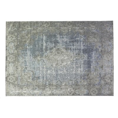 Zita Hand-Knotted Blue/Gray Area Rug Rug Size: Rectangle 8' x 10'