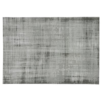Zita Hand-Knotted Gray Area Rug Rug Size: Rectangle 8' x 11'