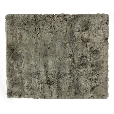 Hand woven Sheepskin Brown Area Rug Rug Size: Rectangle 136 x 176