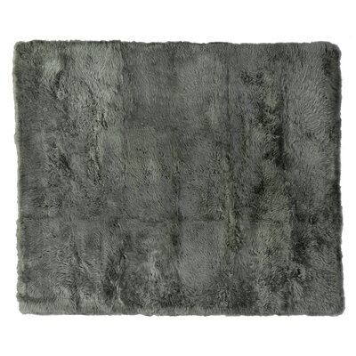 Hand woven Sheepskin Mushroom Area Rug Rug Size: Rectangle 116 x 146