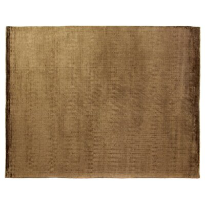 Dove Embossed Hand-Woven Chocolate Area Rug Rug Size: Rectangle 8 x 10