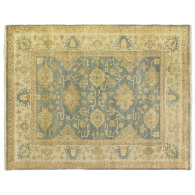 Fine Oushak Hand-Knotted Wool Gray/Ivory Area Rug