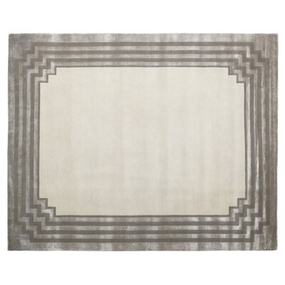 Vero Ivory/Silver Area Rug Rug Size: Rectangle 14 x 18