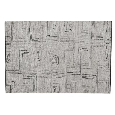 Aldridge Hand-Knotted Ivory/Gray Area Rug Rug Size: Rectangle 10 x 14