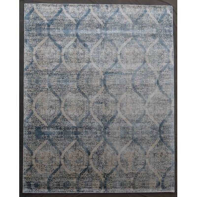 Beverly Hand-Knotted Blue Area Rug Rug Size: Rectangle 8' x 10'