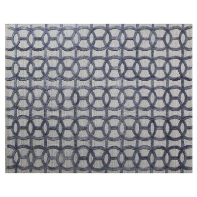 Windsor Hand-Woven Wool Blue/Gray Area Rug. Rug Size: Rectangle�6 x 9