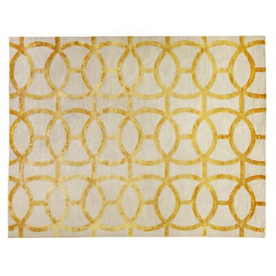 Moreno Gold/Ivory Area Rug Rug Size: Rectangle 9 x 12