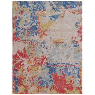 Reflections Red/Blue Area Rug Rug Size: Rectangle 10 x 14