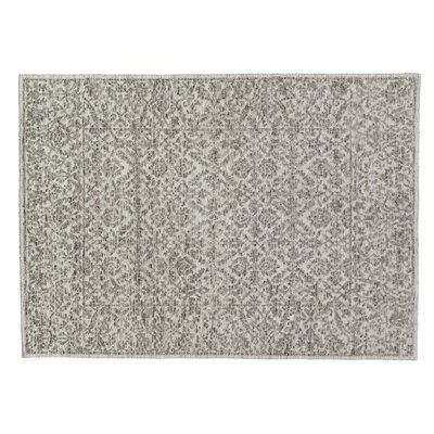 Sloane Hand-Knotted Ivory/Gray Area Rug Rug Size: Rectangle 10 x 14
