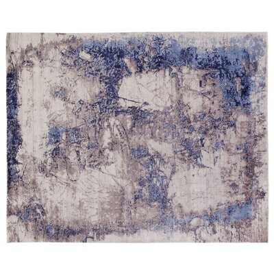Roset Hand-Woven Ivory/Blue Area Rug Rug Size: Rectangle 12 x 15
