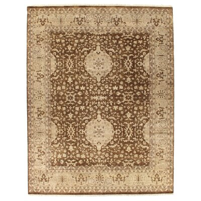 Ziegler Hand-Knotted Wool Brown/Beige Area Rug
