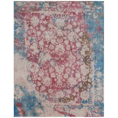Antolini Hand-Woven Pink/Blue Area Rug Rug Size: Rectangle 9 x 12