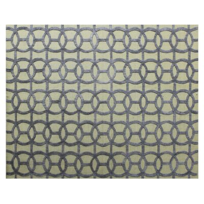 Windsor Hand-Woven Wool Blue/Beige Area Rug Rug Size: Rectangle�8 x 10