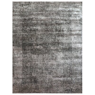 Cassina Hand-Woven Charcoal Area Rug Rug Size: Rectangle 12 x 15