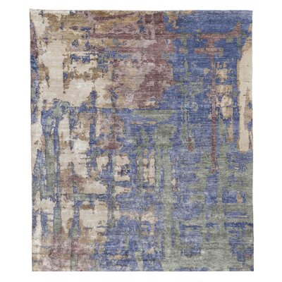 Hand-Knotted Beige/Gray Area Rug