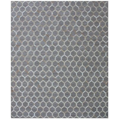 One-of-a-Kind Berlin Hand-Woven Beige/Gray Area Rug