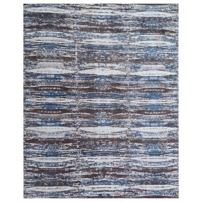 Cassina Hand-Woven Blue/Brown Area Rug Rug Size: Rectangle 12 x 15