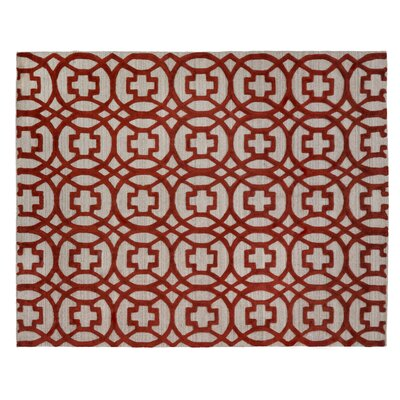 Windsor Hand-Woven Wool Red/Gray Area Rug Rug Size: Rectangle 8 x 10