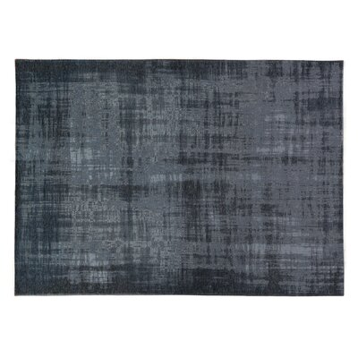 Zita Hand-Knotted Black/Gray Area Rug Rug Size: Rectangle 8' x 11'