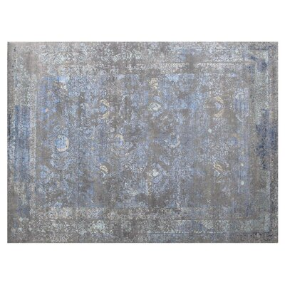 Maison Hand-Knotted Gray/Beige Area Rug Rug Size: Rectangle 8 x 10