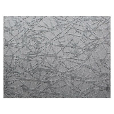 Windsor Hand-Woven Wool Gray Area Rug Rug Size: Rectangle�14 x 18