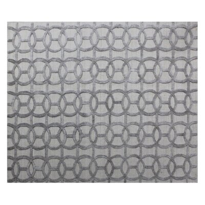 Windsor Hand-Woven Wool Gray Area Rug Rug Size: Rectangle�12 x 15