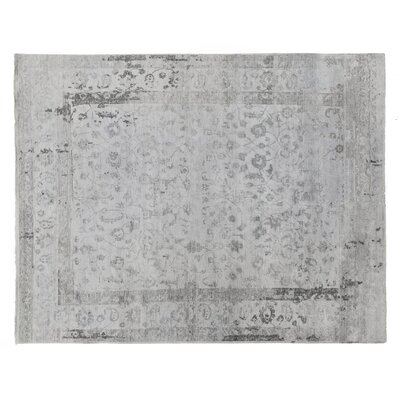 Beverly Hand-Knotted Gray Area Rug Rug Size: Rectangle 8 x 10
