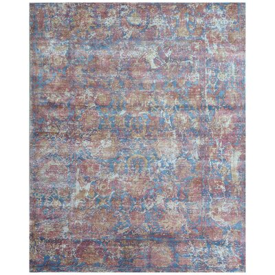 Reflections Red/Blue Area Rug Rug Size: Rectangle 8 x 10