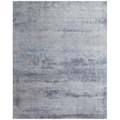 Roset Hand-Woven Gray/Blue Area Rug Rug Size: Rectangle 12 x 15