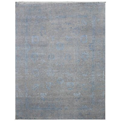 Lexington Hand-Knotted Wool Gray/Blue Area Rug Rug Size: Rectangle 8' x 10'
