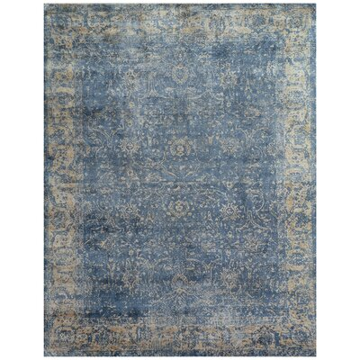 Cassina Hand-Woven Denim/Beige Area Rug Rug Size: Rectangle 12 x 15