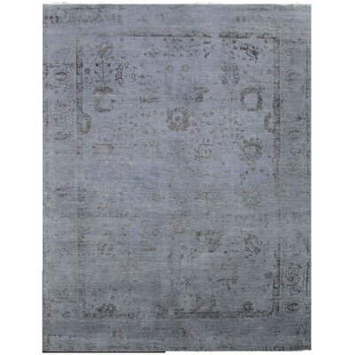 Lexington Hand-Knotted Blue/Black Area Rug Rug Size: Rectangle�12 x 15