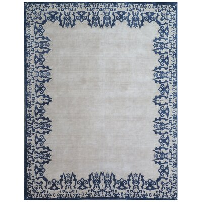 Roset Ivory/Blue Area Rug Rug Size: Rectangle 10 x 14