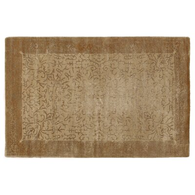 Super Tibetan Hand-Knotted Ivory/Gold Area Rug