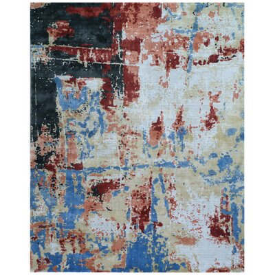 Antolini Hand-Woven Red/Blue Area Rug Rug Size: Rectangle 8 x 10