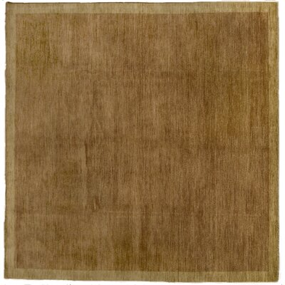 Buckingham Hand-Knotted Wool Brown Area Rug Rug Size: Rectangle 9 x 10