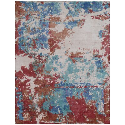 Antolini Blue Area Rug Rug Size: Rectangle 6 x 9