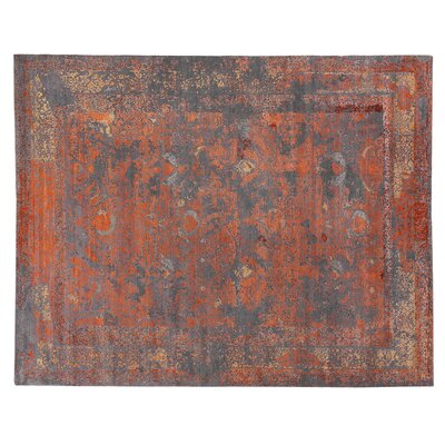 Maison Hand-Knotted Gray/Brown Area Rug Rug Size: Rectangle 14 x 18