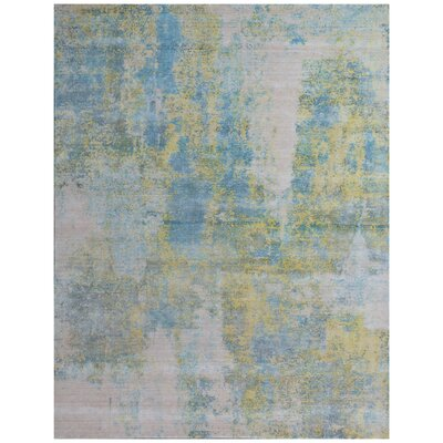 Roset Hand-Woven Beige/Green Area Rug Rug Size: Rectangle�9 x 12