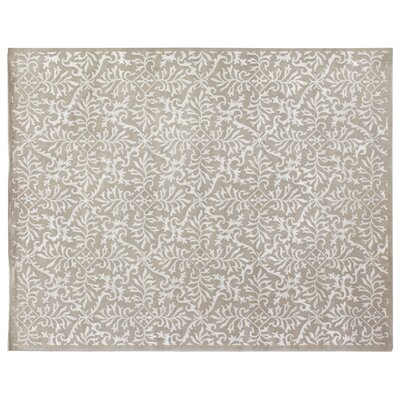 Super Tibetan Hand-Knotted Gray/White Area Rug Rug Size: Rectangle 8 x 10