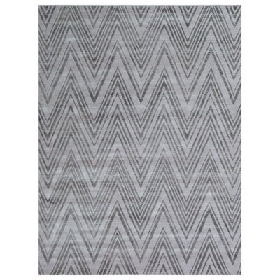 Reflections Hand-Woven Black/Gray Area Rug Rug Size: Rectangle�12 x 15