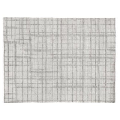 Fairbanks Hand-Woven Beige Silver Area Rug Rug Size: Rectangle 9 x 12