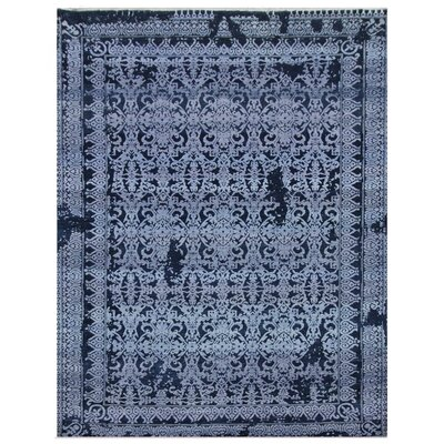 Lexington Hand-Knotted Blue/Ivory Area Rug Rug Size: Rectangle�14 x 18