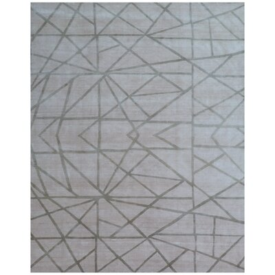 Antolini Hand-Woven Gray Area Rug Rug Size: Rectangle 8 x 10