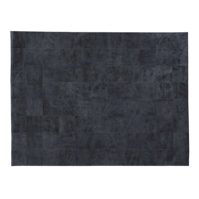 Hand-Woven Gray Area Rug Rug Size: Rectangle 5 x 8