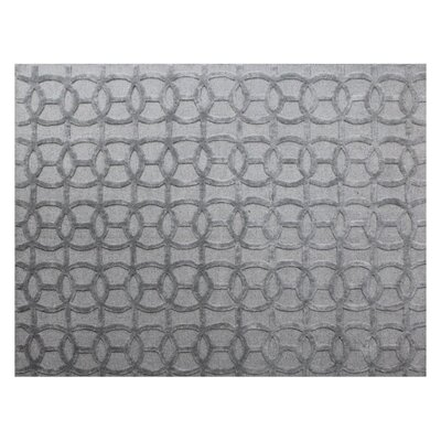 Windsor Hand-Woven Wool Gray Area Rug Rug Size: Rectangle 8 x 10