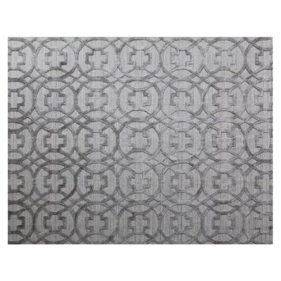 Windsor Wool Gray Area Rug Rug Size: Rectangle 8 x 10