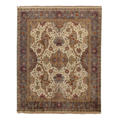 Ziegler Hand-Knotted Wool Ivory/Brown Area Rug