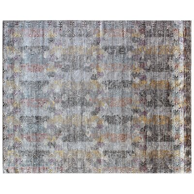 Ashley Hand-Knotted Gray Area Rug Rug Size: Rectangle�12 x 15